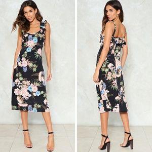 Nasty Gal : Floral Print Midi Dress Size 4 NWT